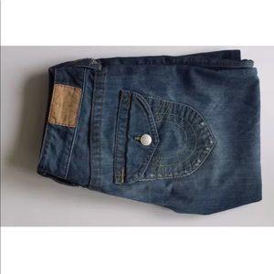 Women's Blue Ripped Jeans by True Religion Sz 27
